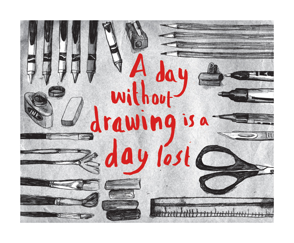 a day without drawing