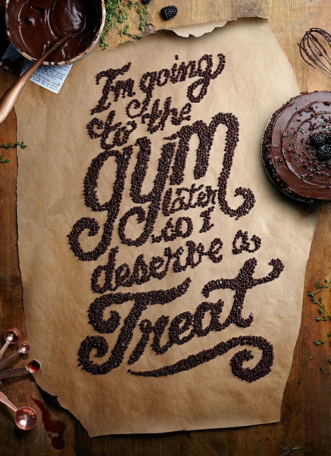Food Lettering with Victoria Black