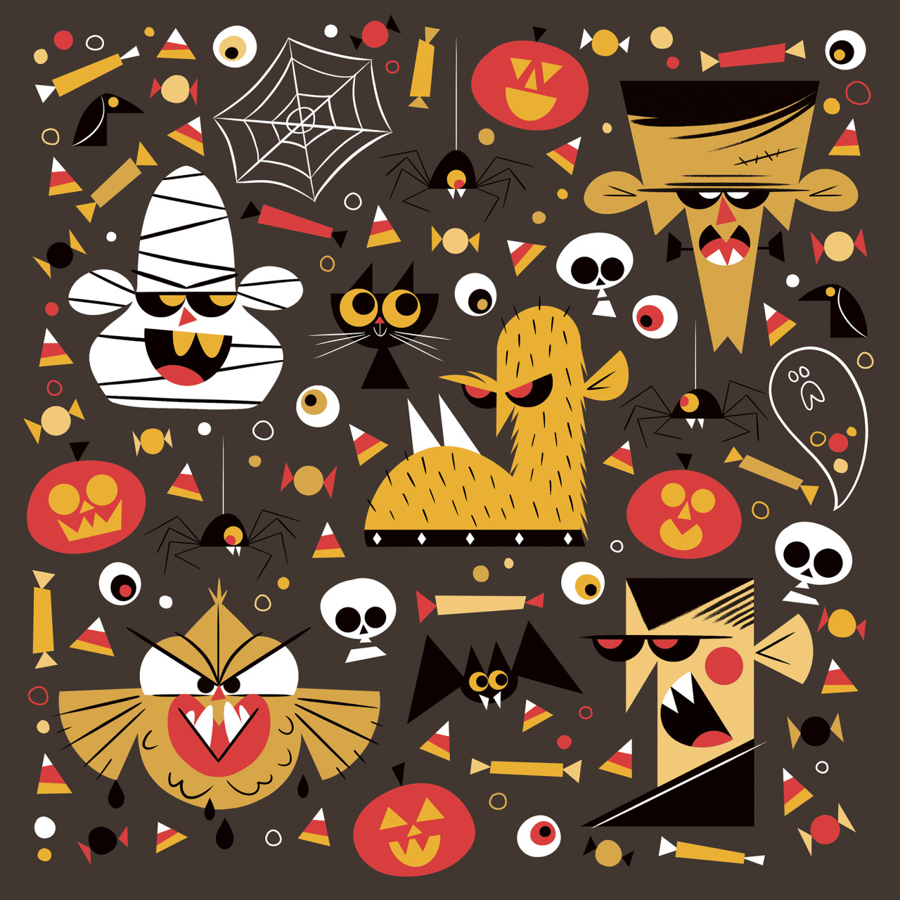 Halloween illustrations by James Boorman