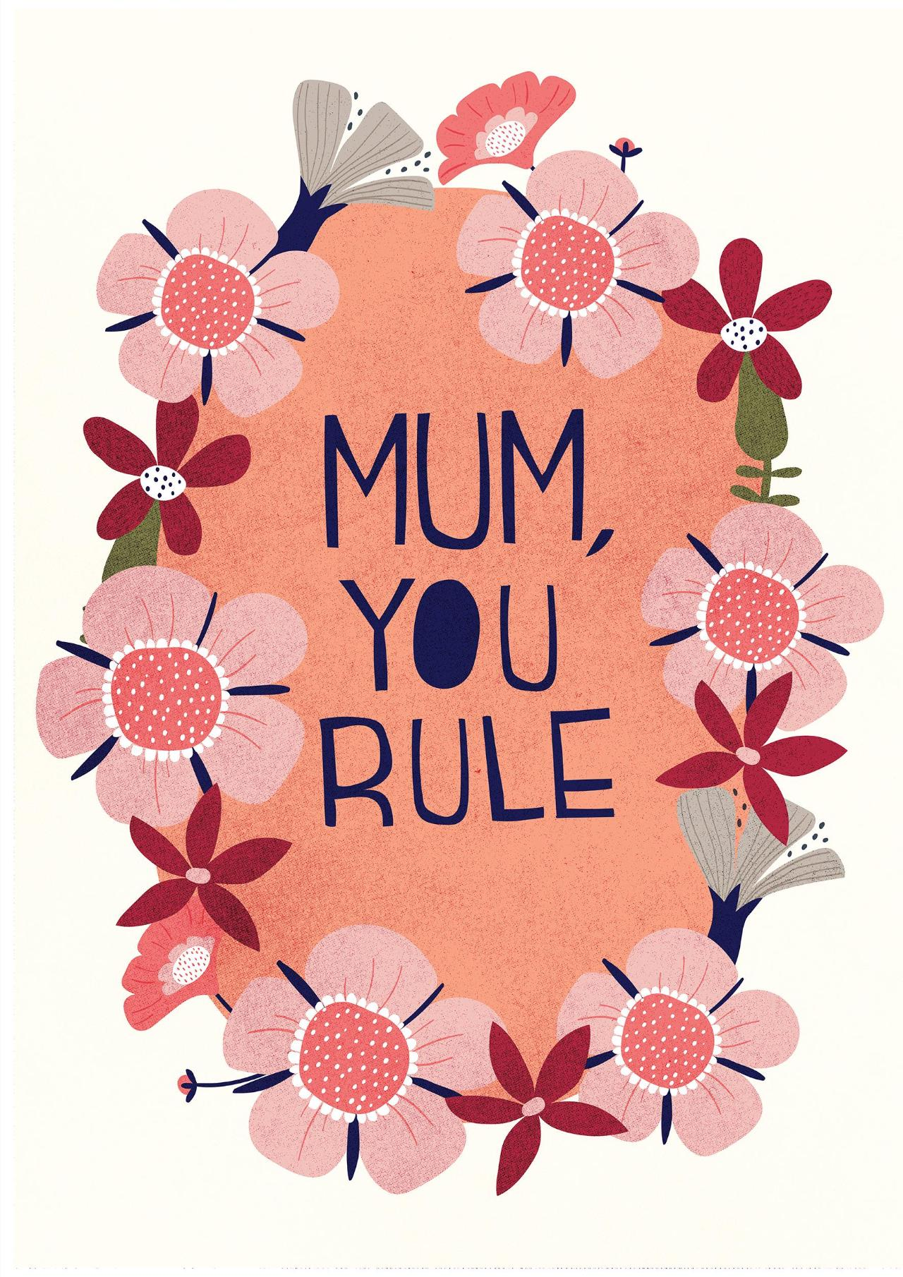 Mum's Rule Mother's Day Card