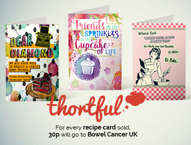thortful create range of charity greeting cards for Bowel Cancer UK