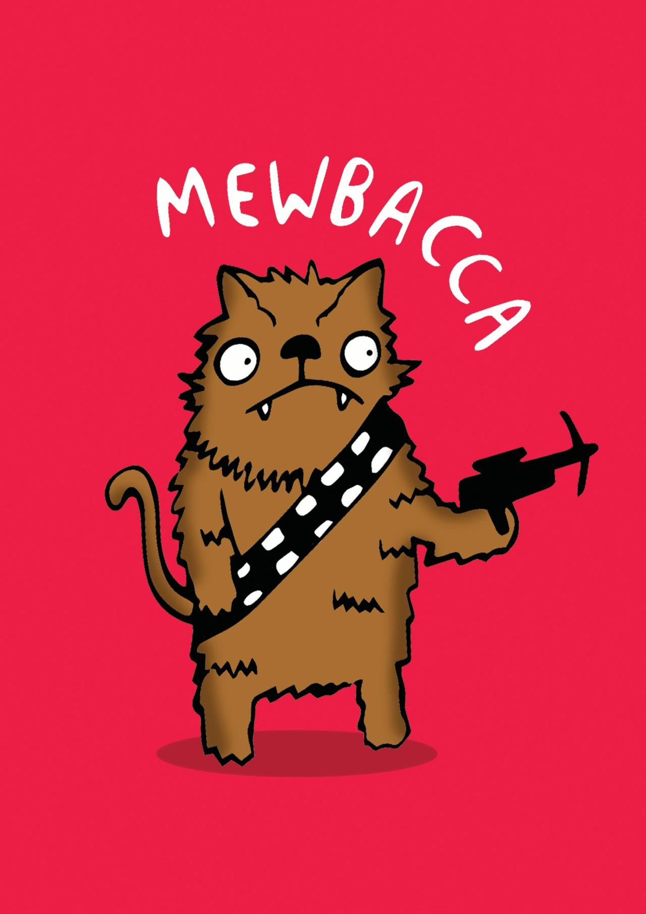 Star Wars Cat Card