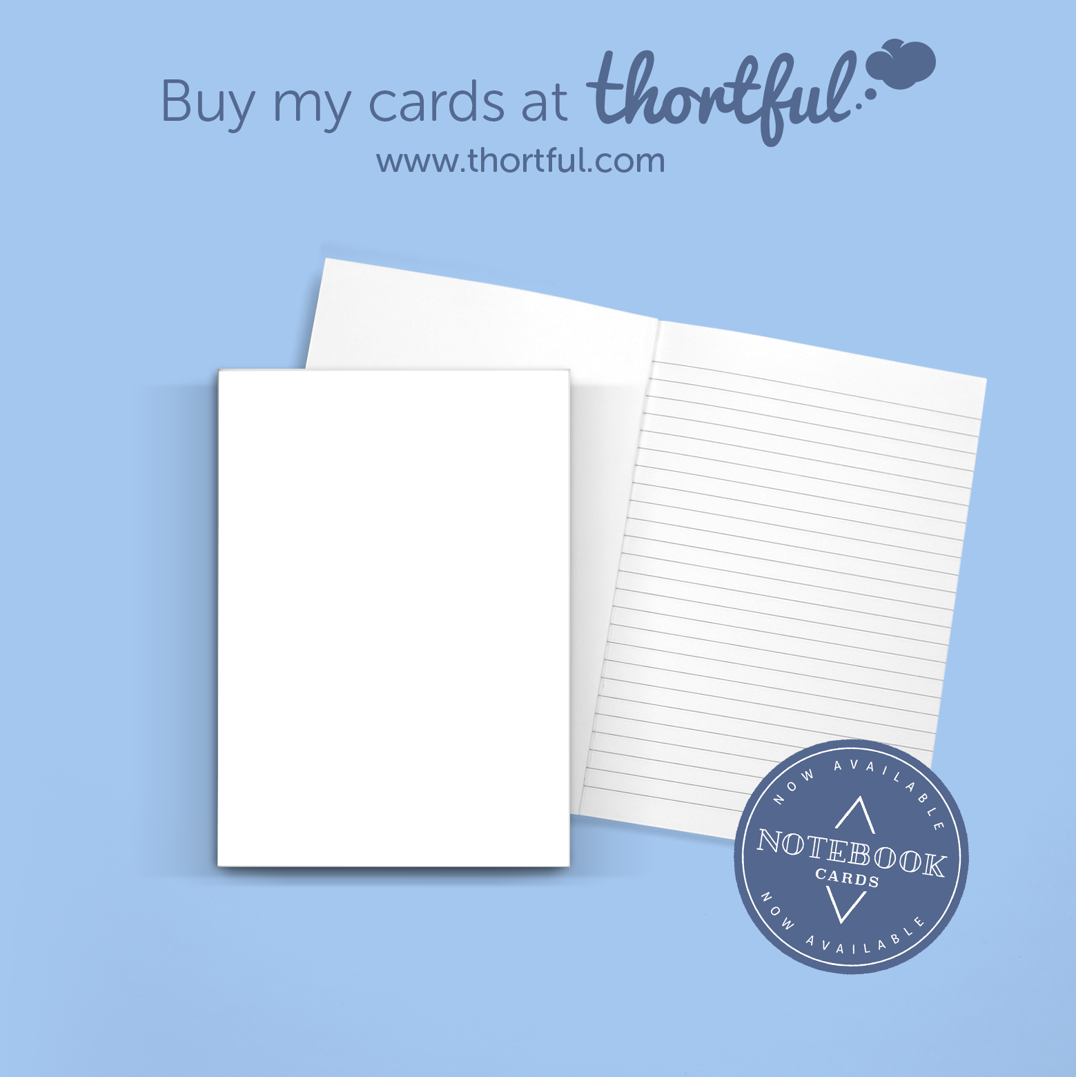 Notebook card blue
