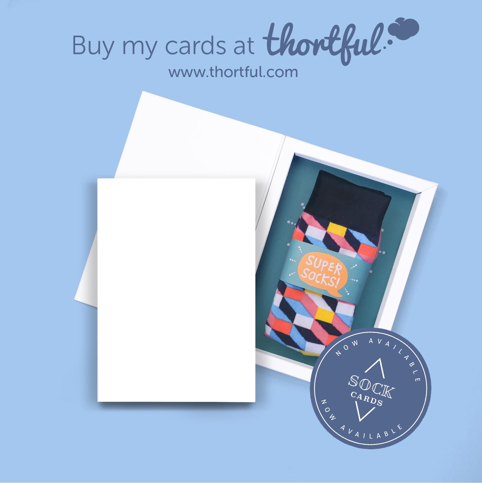 Sock card blue